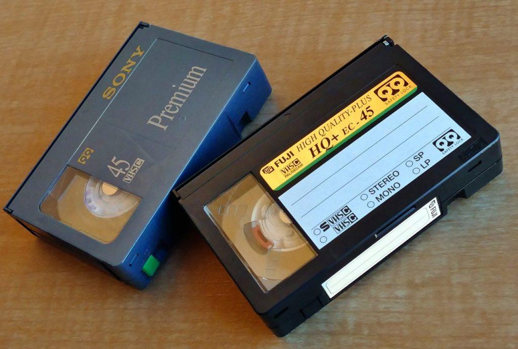 2 cassettes vhs/c vue de dessus