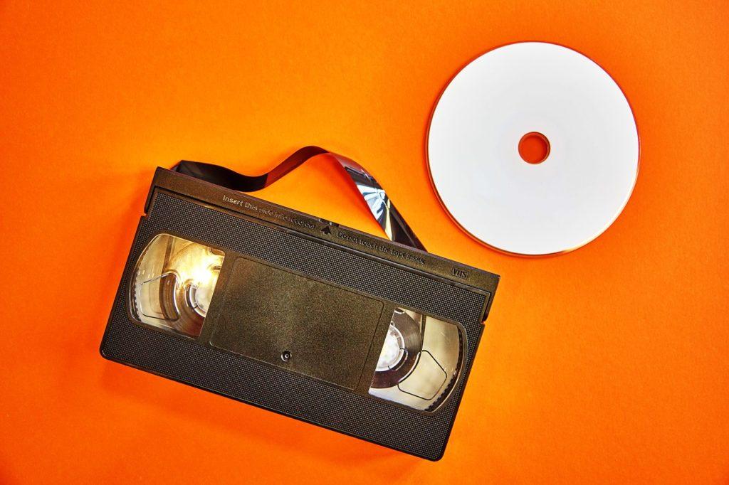 Cassette vhs et DVD